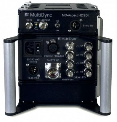 MultiDyne BullDog connector panel.