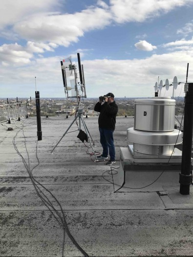 Rooftop IP microwave links were used to connect live camera video, audio, IFB and intercom to mobile platforms rolling on the streets.