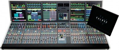 The Calrec Artemis Light console features 240 channel processing paths with up to 128 program busses, 64 IFB/Track outputs and 32 auxiliaries.