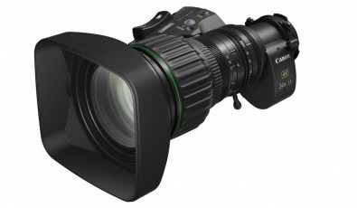 The Canon CJ24ex7.5B lens, one of two low-cost UHD models introduced at the show, offers UHD performance in a compact and lightweight design.
