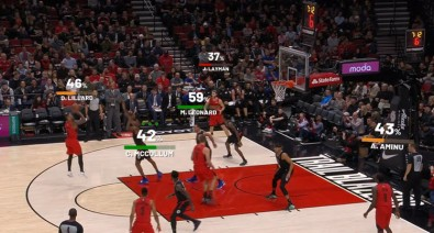 Using data analytics, the Clippers CourtVision app can tell users which player has the best chance to make a shot based on where they are on the court.