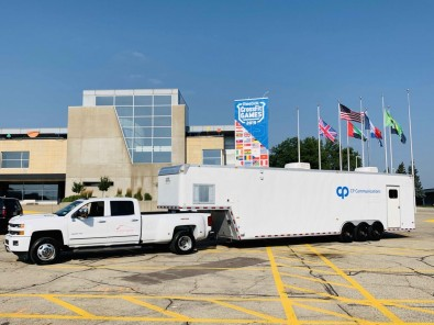 CP Communications built a fiber infrastructure from its 40-foot CP-1 Digital Communications Trailer to cover the entire competitive course.