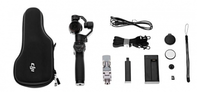 The DJI Osmo kit includes the grip, gimbal, camera and device holder for your smartphone (there is a companion app).