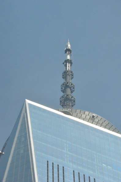 The HAAT of the new Freedom Tower antenna system is 1776-ft. Click to enlarge