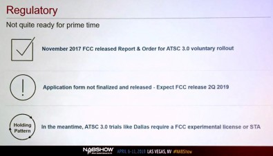 Broadcasting ATSC 3.0 today requires a FCC experimental license or STA.