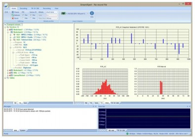 DekTec's StreamXpert provides detailed statistics on PIDs, services and tables in real time. It analyzes and decodes audio, video and system information.