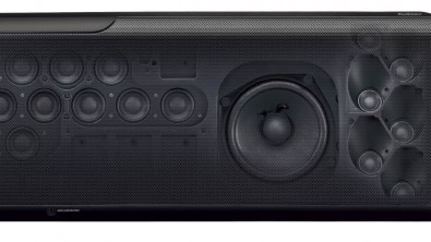 Soundbars are taking over: The Yamaha MusicCast YSP-5600 sound bar uses sound beam technology and 44 speakers to produce a 7-channel surround image, including two height channels.