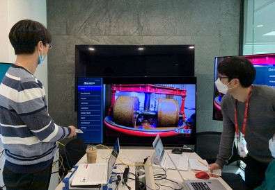 Korean DigiCAP Team working remotely on NRT (non-real time) delivery of the Broadcast Receiver App that enables interactivity.