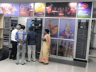 A previous-generation Maxiva transmitter as installed at one of Doordarshan's transmission headends.