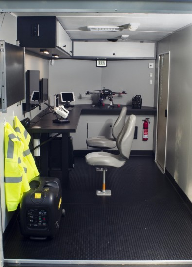 A company in Asheboro, NC, UAV Mobile Station, offers the ability to operate drones remotely, using an IP-based remote control and HD monitoring screens.