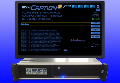 ENCO's popular enCaption3 solution was updated to enCaption4, which was shown at the NAB Show.