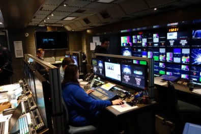 "Game Creek's ""Encore"" 4K UHD truck has over 1,200 individual signals that need to be routed during major telecasts like the NFL Super Bowl and the MLB World Series."