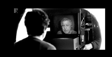 Errol Morris using the Interrotron.