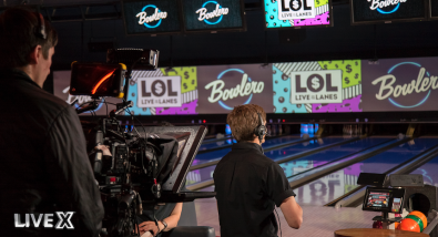 "Production company Live X used a URSA Broadcast camera to create and live stream last summer's ""Live on the Lanes"" game show series on Facebook."