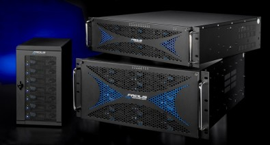 Localized storage typically consists of multiple HDs installed in rack mounts of various sizes, configuration.  Shown here is a Facilis TX16 storage system.