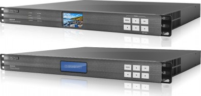 A DS Broadcast HFR IRD (top) and HFR Encoder were used to achieve 120 FPS broadcasts.