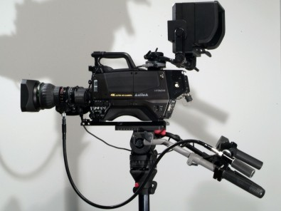 The SK-UHD4000 from Hitachi Kokusai America uses standard 2/3-inch, bayonet-mount lenses and provides the ability to acquire in 4K, 2K and HD.]