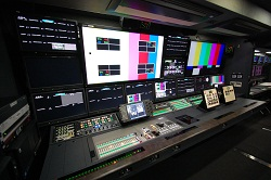 The Ikegami-built NHK truck features a 16-input production switcher, 8K (and 4K9 router, up to ten Ikegami 8K cameras and an 8K slow motion replay system.