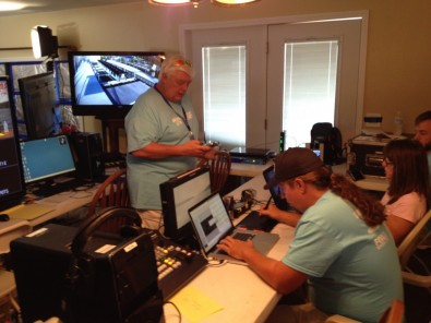 "Three engineers with about 100 years of combined broadcasting experience do the setup. Two build and own radio stations. But, an audio problem still caused a bit of head scratching. The engineers all consider themselves audio experts. ""Impossible!"" said the set-up engineers, ""The audio has to be in phase."""