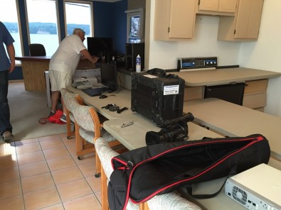An empty apartment turned temporary broadcast studio was neat and clean until Viper co-owner Dennis Klautzer and crew moved in.