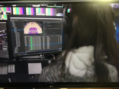 A Golden Center 1 video operator drawing material from their CatDV media management system