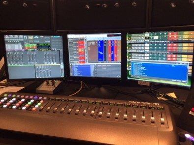 The Grass Valley Ignite dashboard allows director's at News 12's various locations to orchestrate the newscast and all of its audio and video elements from a single keyboard.