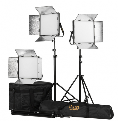 Ikan offers DMX-controlled fixtures used in studios and TV stations and battery-powered versions for on-location video production.