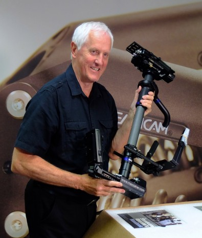 Steadicam inventor Garrett Brown and the new top of the range Steadicam M1 rig