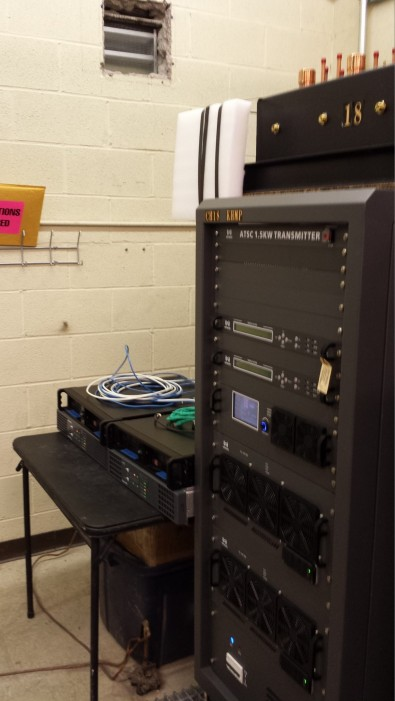 The KHMP transmitter building was the point of origination for the experimental ATSC 3.0 UHD Channel 18 transmission.