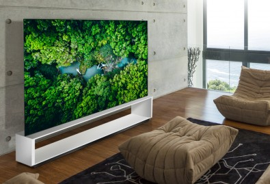 The 2020 LG OLED ZX Real 8K models deliver 16 times more detail than HDTV and exceed CTA's official industry requirements for 8K Ultra HD TVs.