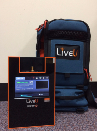 The LiveU LU600 supports file transfers at 80Mbps  with a low delay (0.5 sec) and a 100Mbps high-speed bonded Internet connection.