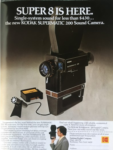 One of the last TV film camera ads in a NAB Preview issue ran in 1974, when Super 8 was trying to replace 16mm TV news film and some stations thought ENG was a fad.