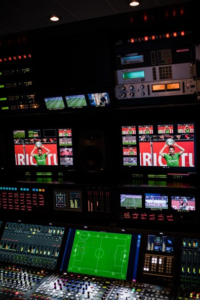 Lawo's KICK automated mixing software is closely tied to a graphics and match data platform from ChyronHego.