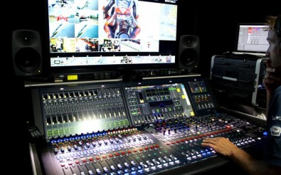 Audio Control Room with Lawo mc² 56 console.