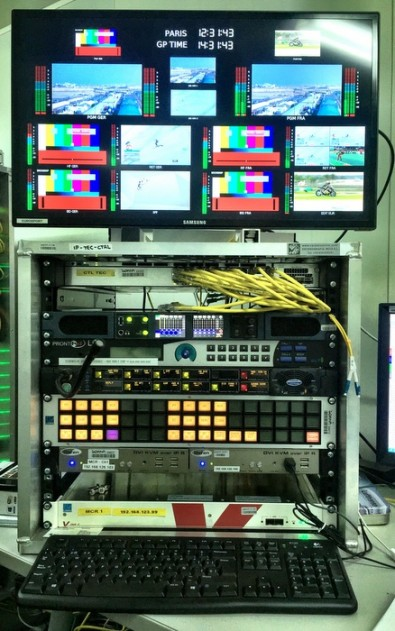 IP technical control hub in the Broadcasters Technical Control area.