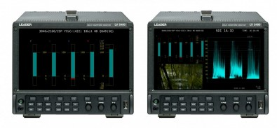 The half-rack-width 4U high Leader LV5490 offers 4K, UHD, 3G, HD and SD test and measurement features in a compact portable unit.