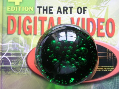Figure 2. My spherical paperweight would look like a flat disk in a photographic image, but the reflections of the window convey a non-stereoscopic depth clue.