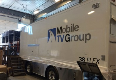 "Most of MTVG's new fleet of mobile units can help televise live events in HD (1080p, or 720p/1080i), 4K, HDR and 6X slo-mo, 1080p, or 720p/1080i. By 2020, some of these trailers may be pulled by a self-driving ""Telsa Semi"" tractor."