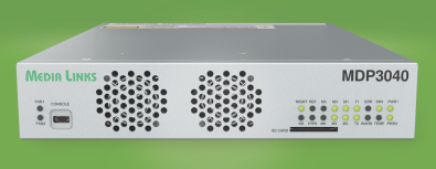 Using TICO compression, the Media Links MDP3040 is a dual-channel 4K UHD edge broadcast encoder/decoder (IP Gateway) that converts incoming 12G-SDI video signals into IP encapsulated 3G-SDI streams that can be sent over a WAN or studio LANs for decoding at the far end.