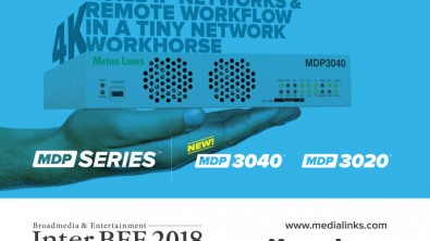 For Remote Production Network workflows, Media Links showcased its MDP 3020 IP Media Gateway.