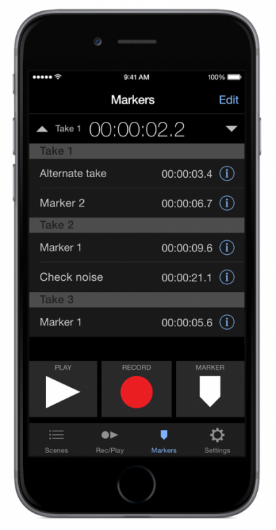Apogee's Maestro app supplies level control and DSP processing. Because the microphone-to-iOS device is via the Lightning connector no analog transfer is required.
