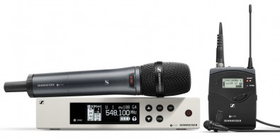 The Sennheiser G4 series of wireless microphones has a sleek new user interface, a generously expanded switching bandwidth and higher RF output power for the 300 and 500 series plus new multi-channel functionality for the 100 series and new on-camera systems.