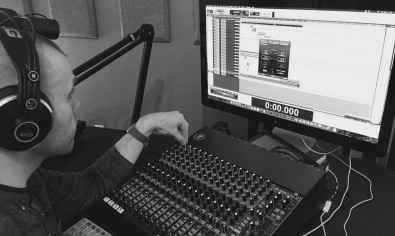 Alex Knight does sound design for a podcast in Avid Pro.