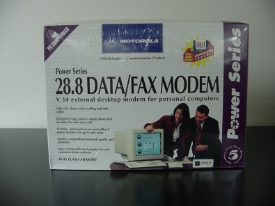 This early Motorola external modem was popular among computer enthusiasts. While the speed worked for text, image transfer seemingly took—forever.