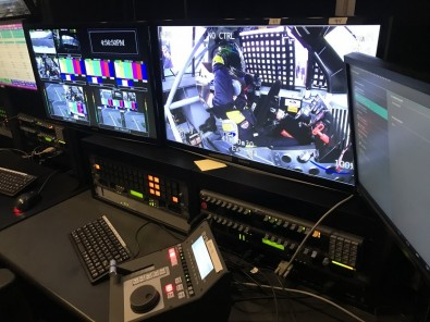 One of the EVS Replay stations at NASCAR Productions, which allows operators to access any audio or video clip on the facility's private 16 PB storage area network. Click to enlarge.