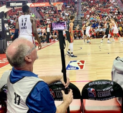 Working with the NBA and AT&T, ESPN experimented with capturing and broadcasting an entire NBA Summer League game using six smartphones connected to a 5G network.