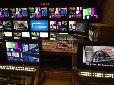 NEP's ND1 production truck was built by NEP and designed to NBC Sports specifications, including a GVG Kayenne K-Frame Switcher.