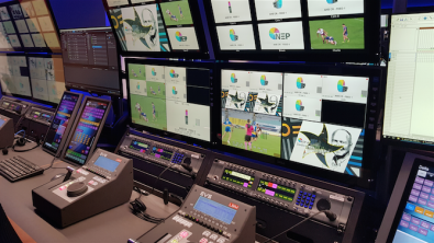 The EVS replay area in the Sydney hub facility, where replay clips are created for productions happening across the country before they are inserted into the live broadcasts.