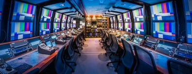 The SSCBS Replay Area inside the C truck includes 20 EVS operators, with two 12-channel XT3 units, four eight-channel XT3 units. Click to enlarge.