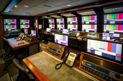NEP's SSCBS truck, which was used for the NFL regular season, features a wide array of live production equipment, including a Grass Valley Kayenne switcher and multiple EVS XT3 replay servers. Click to enlarge.
